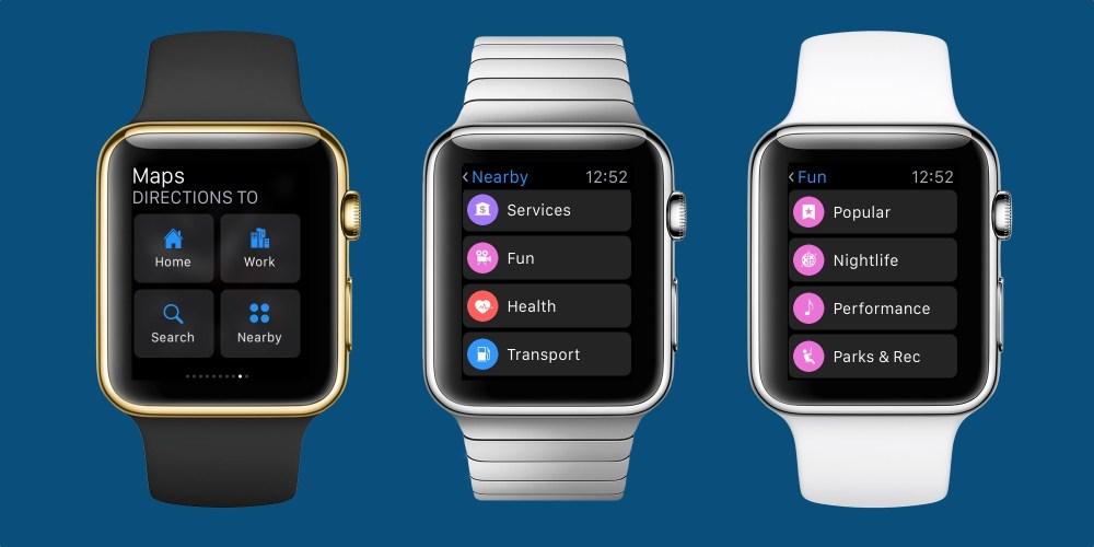 watchOS 2.2 Maps Apple Watch