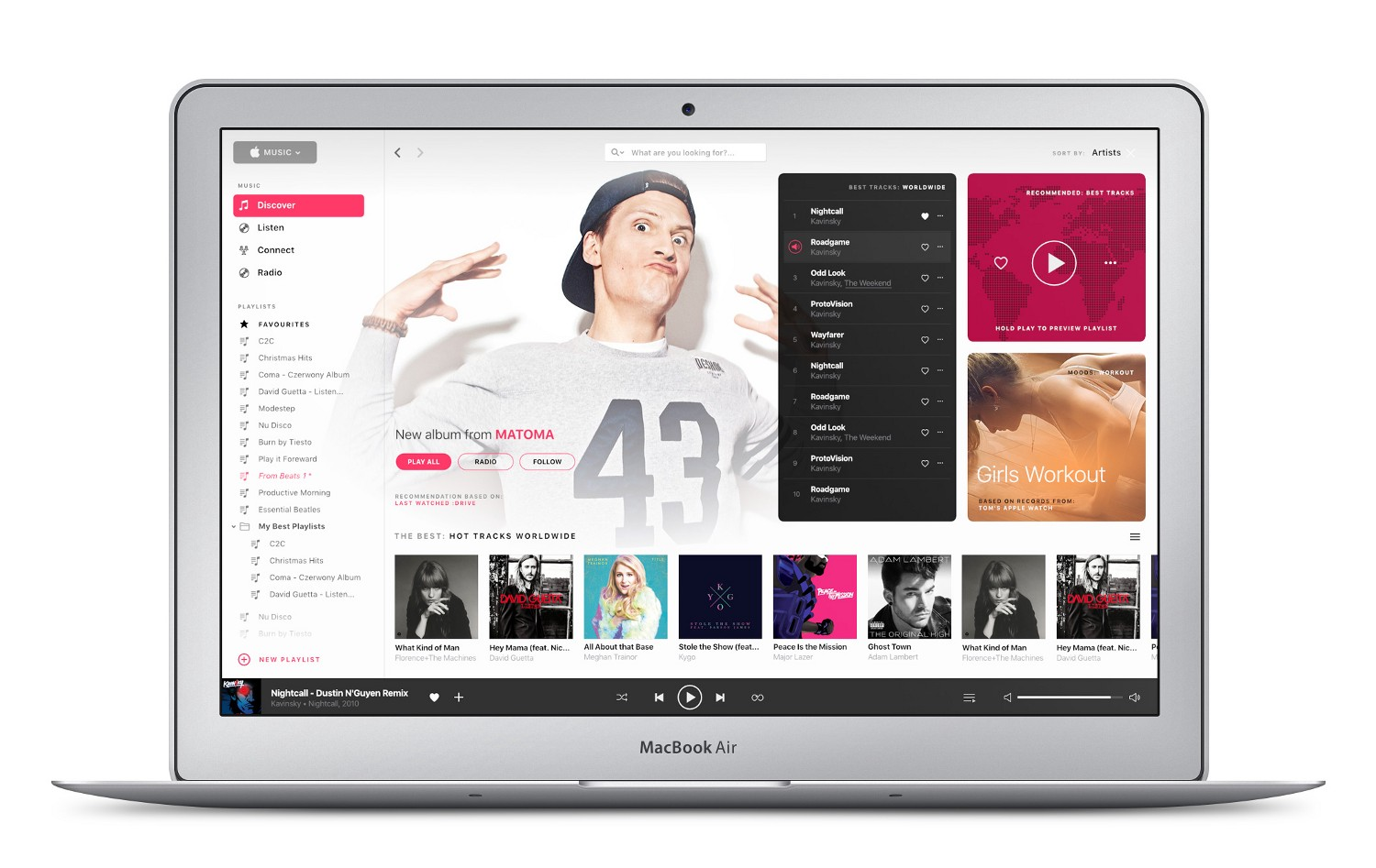 Tom Koszyk's Apple Music Redesign