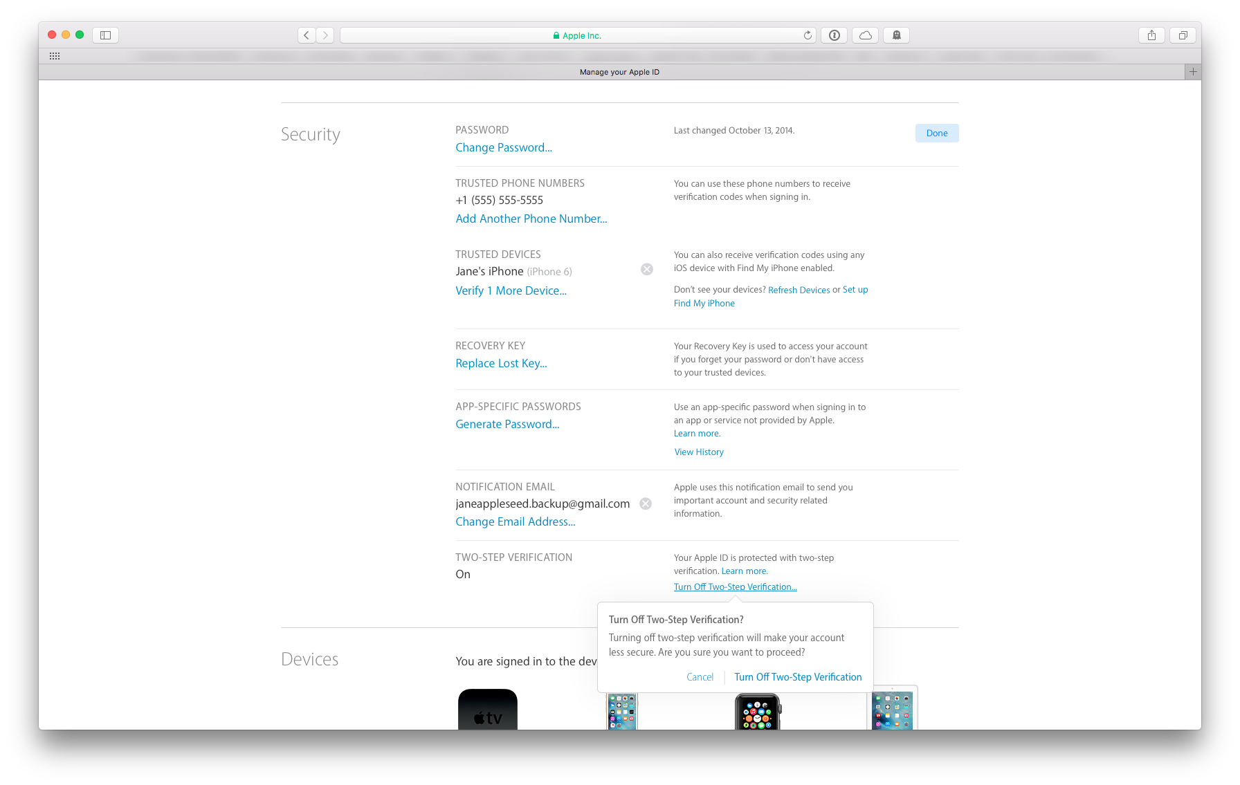 Apple ID Security View