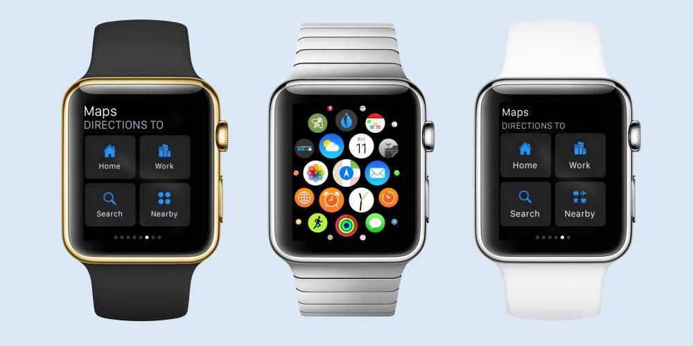 Apple Watch Maps Glance