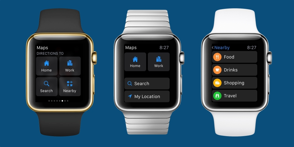 Apple Watch watchOS 2.2 Maps