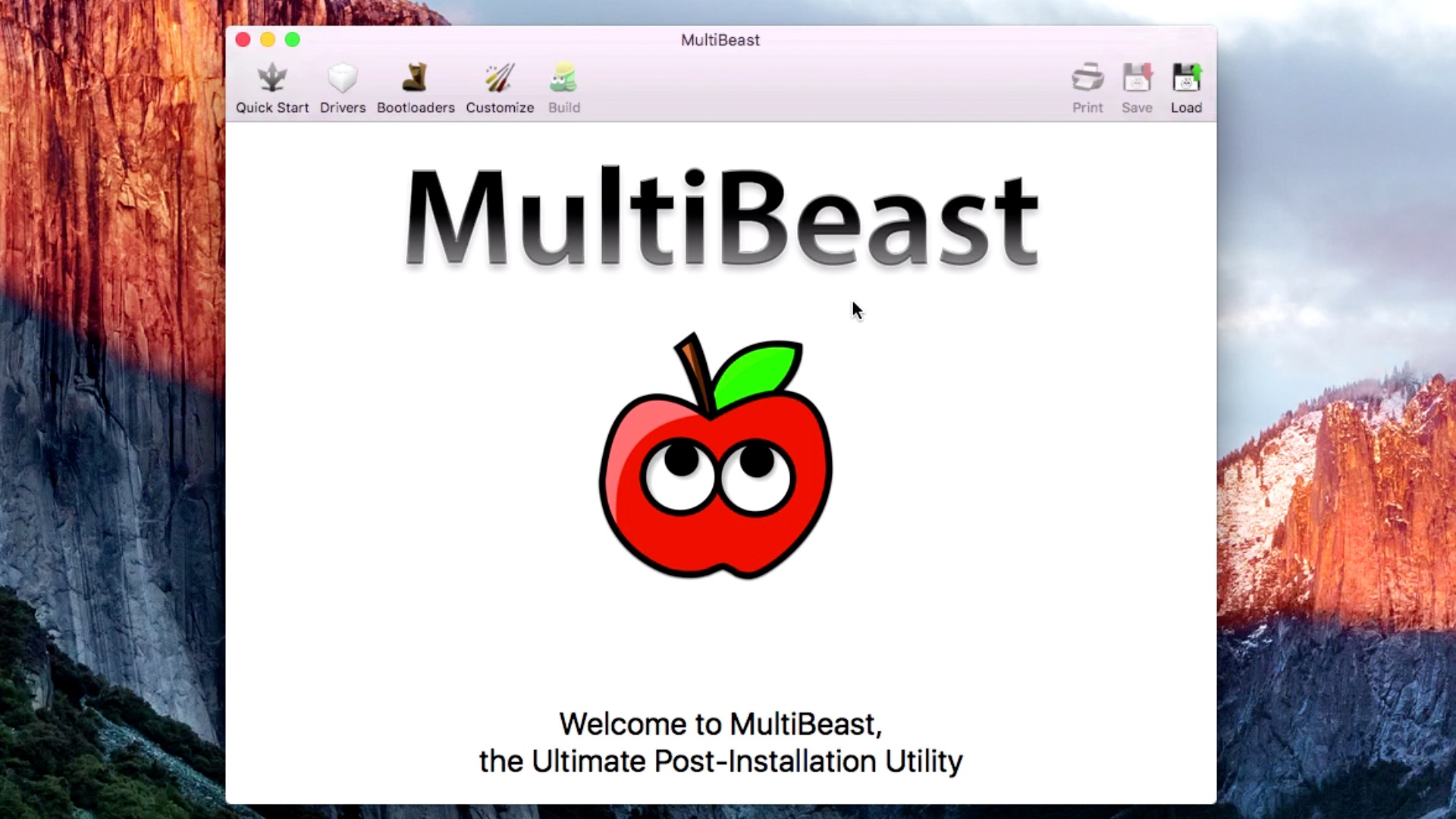 Configure MultiBeast