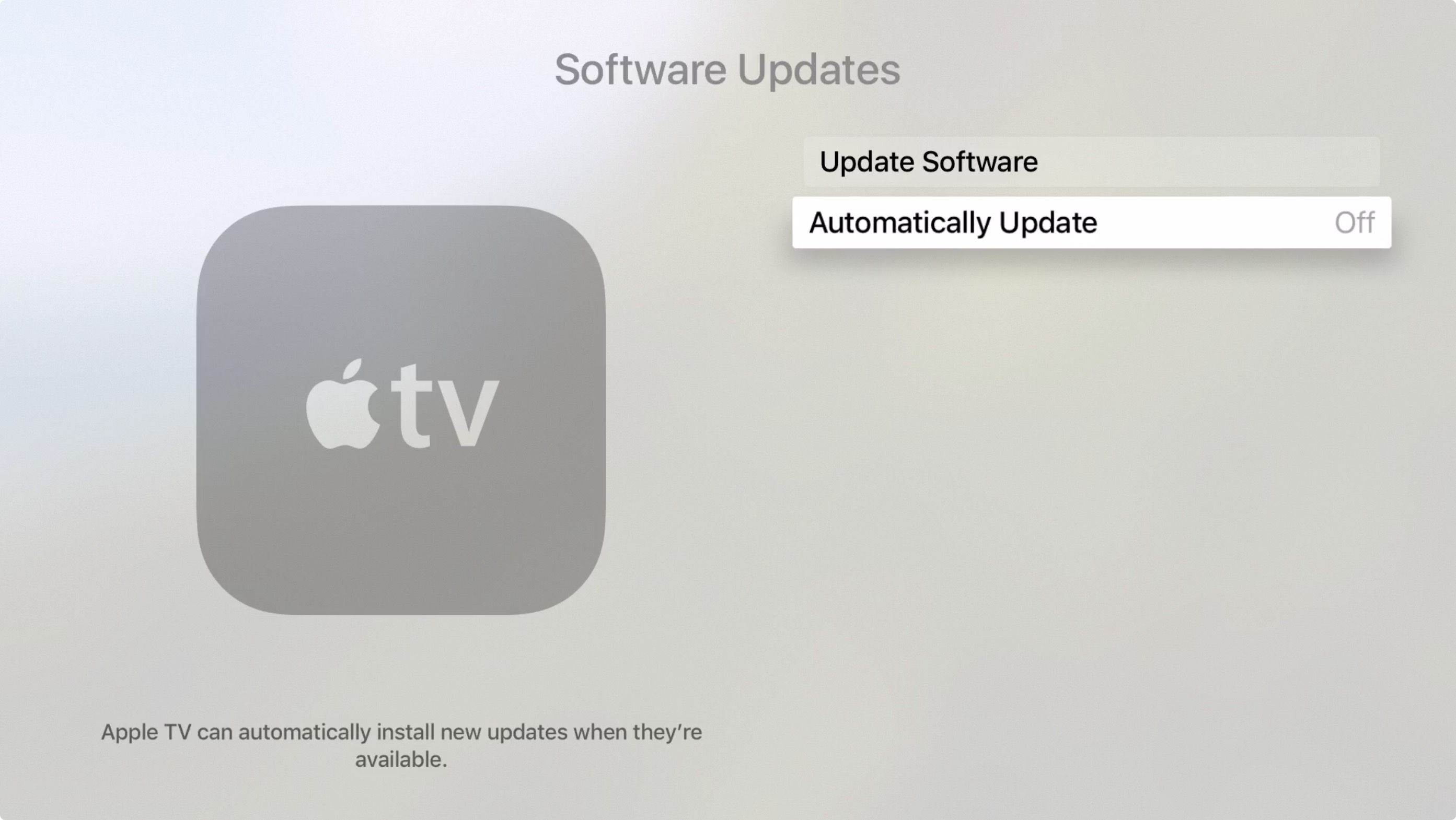 Disable Automatic Updates Apple TV Jailbreak