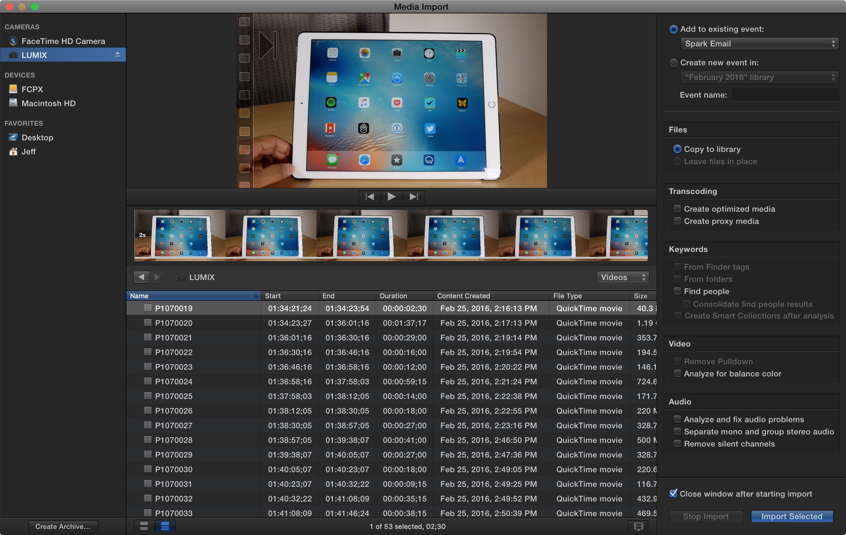 Final Cut Pro X: Getting started with Library management and