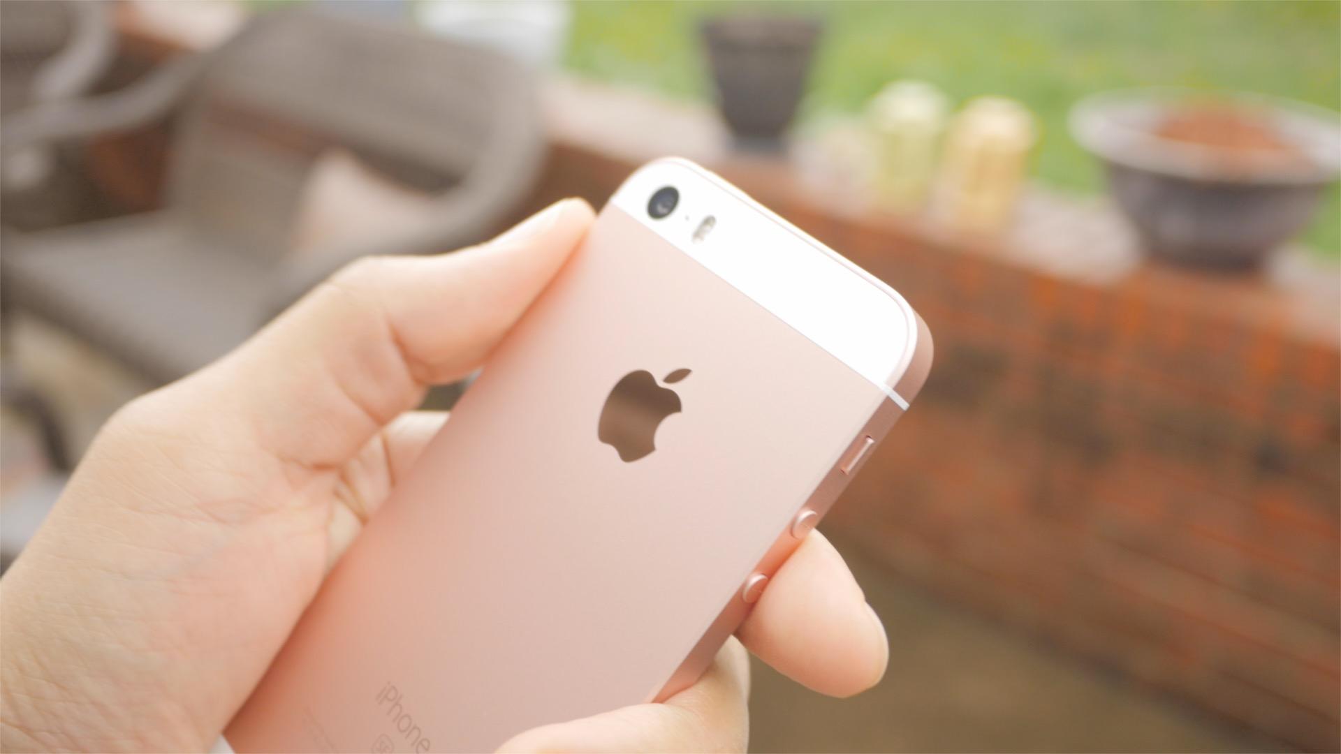 iPhone SE inset Apple Logo
