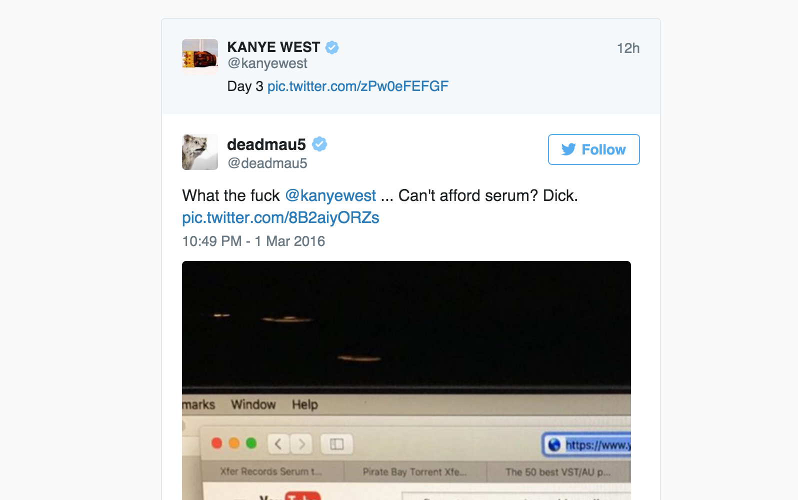 Kanye West gets caught pirating copy of $200 Logic Pro plug-in on
