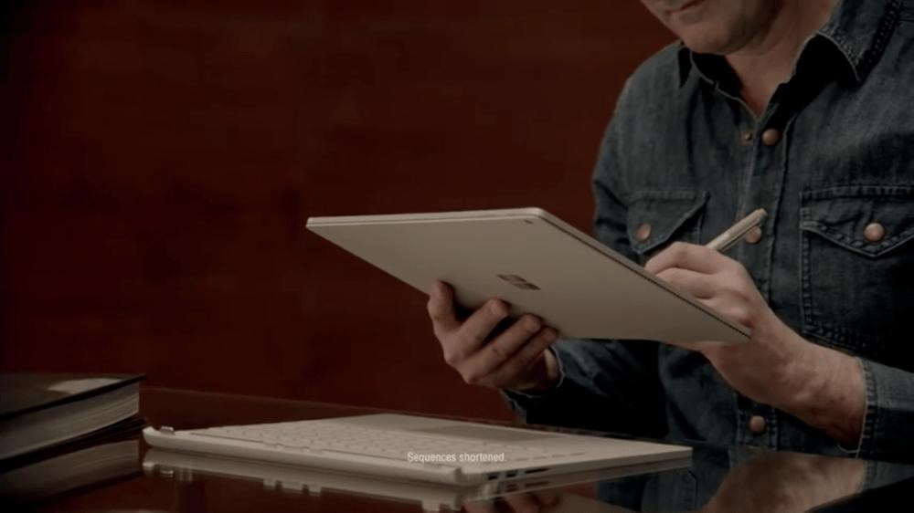 Surface Book Mac ad