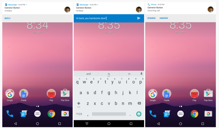 Android N Quick Reply
