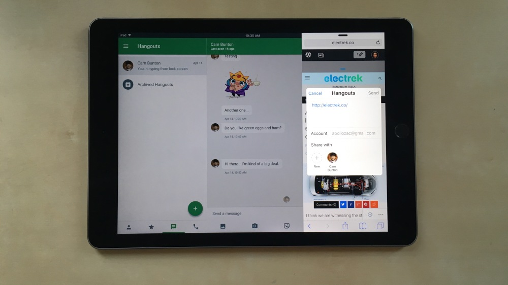 Google Hangouts iOS
