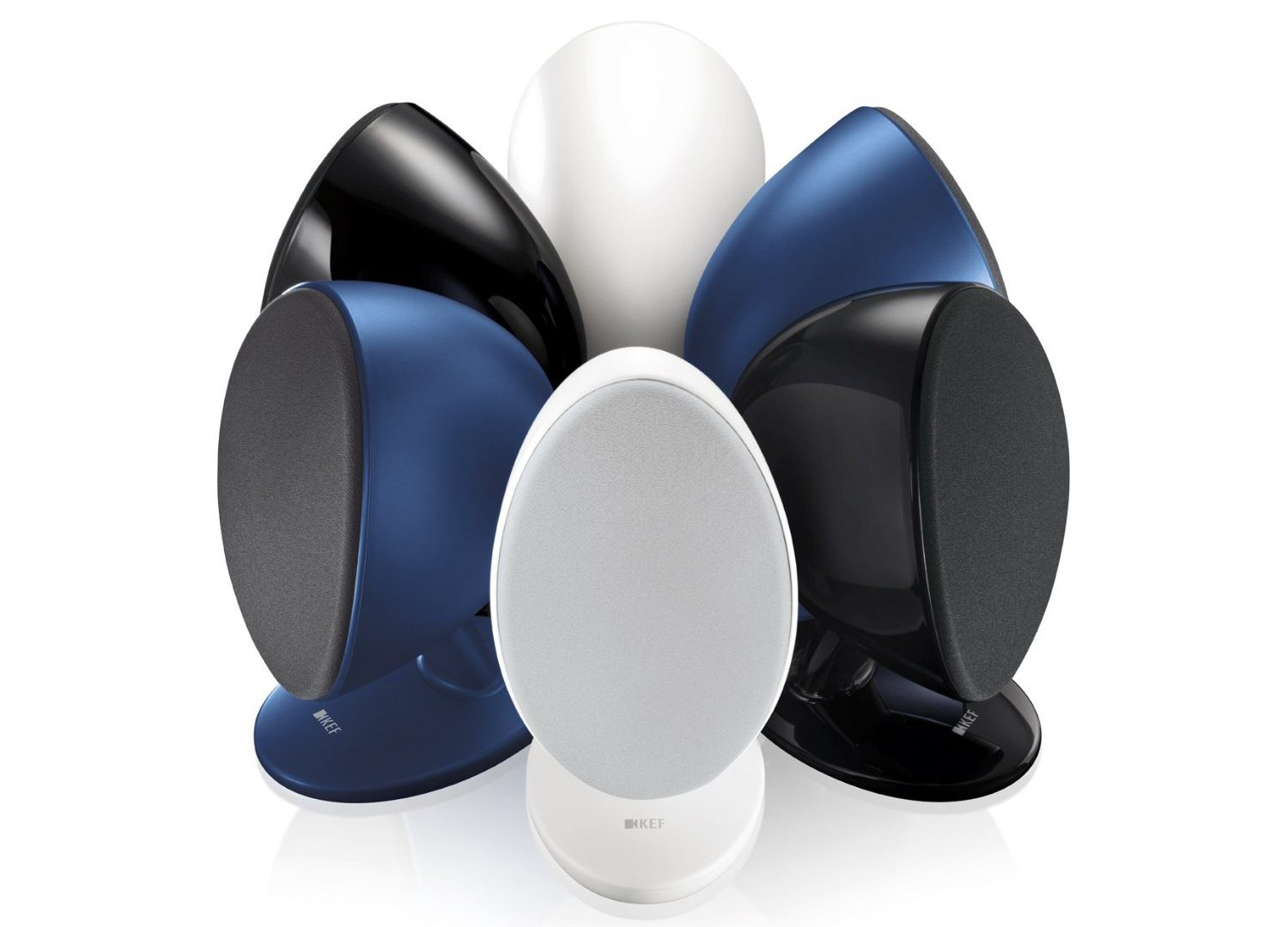 KEF Egg Blue Black and White
