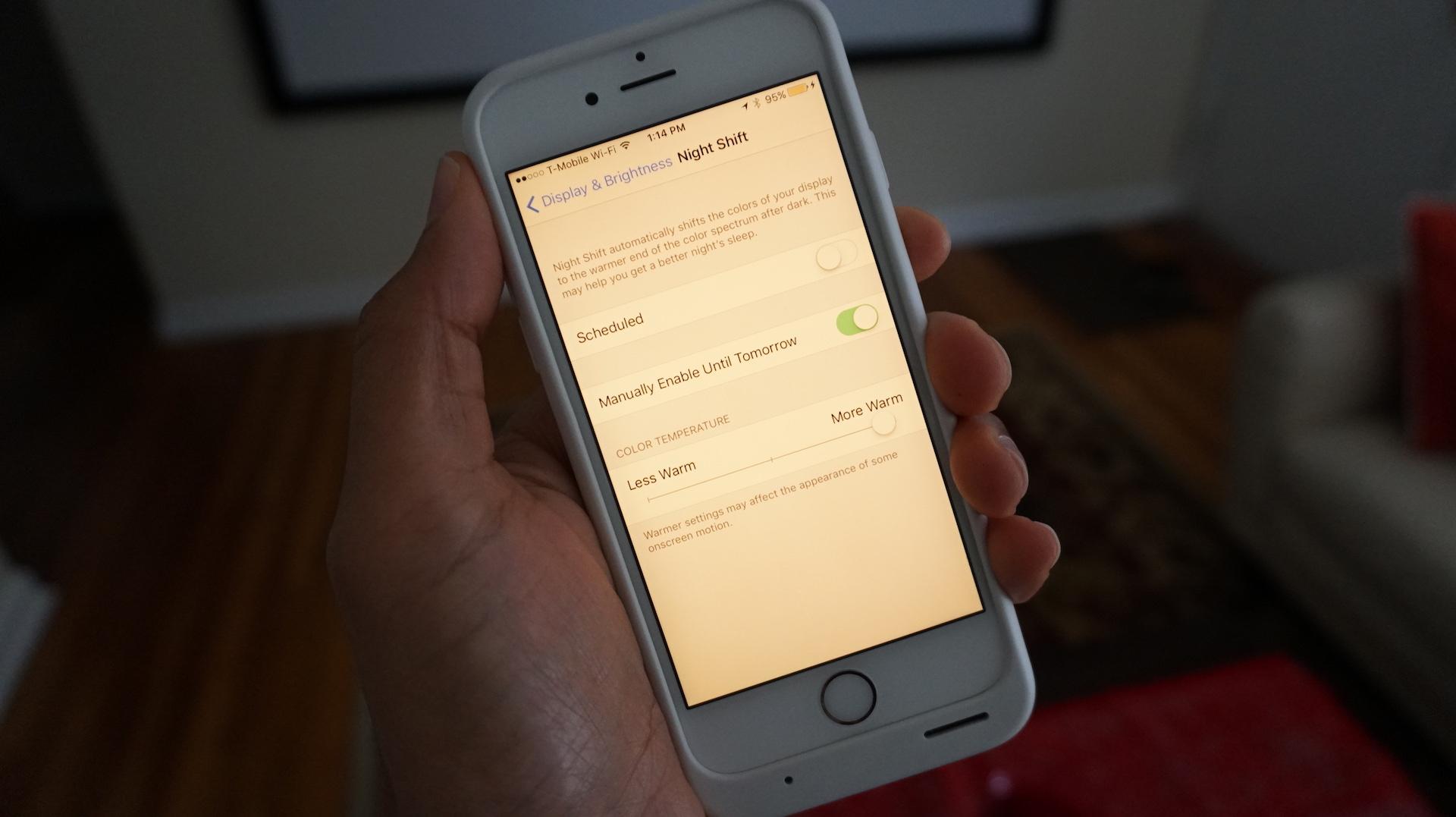 Low Power Mode Night Shift iOS 9.3.2 beta 2