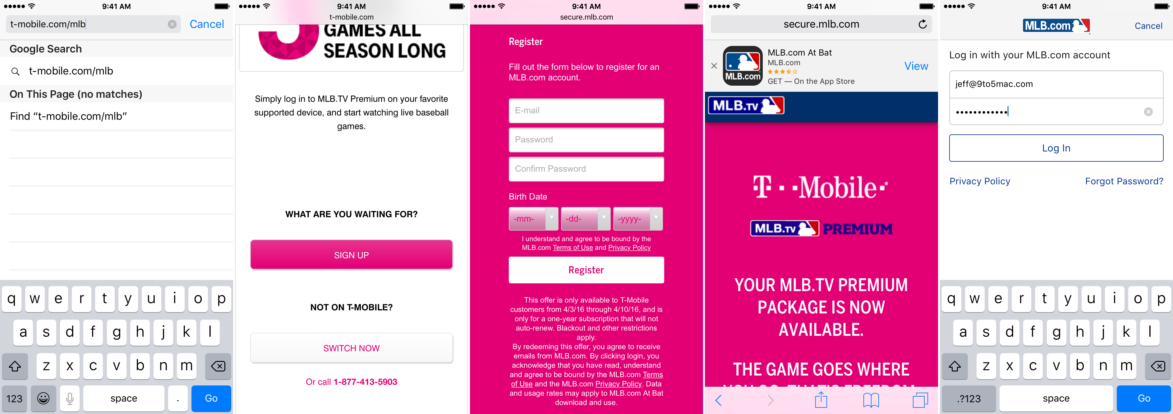 MLB.tv Free T-mobile