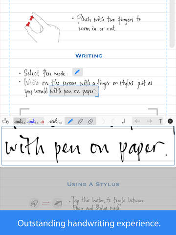 convert handwriting to text ipad