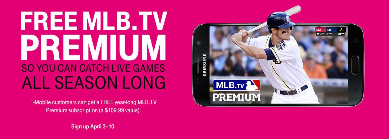 T-Mobile MLB.TV Premium Free