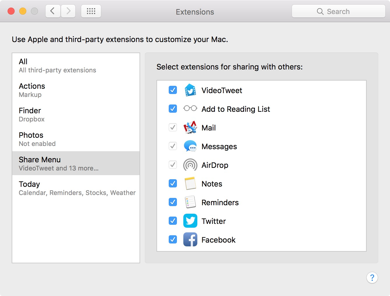 VideoTweet Share Extension