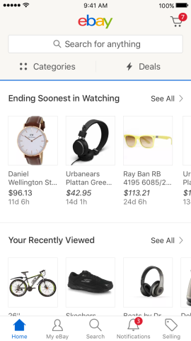 eBay refreshing mobile apps with updated design + speed
