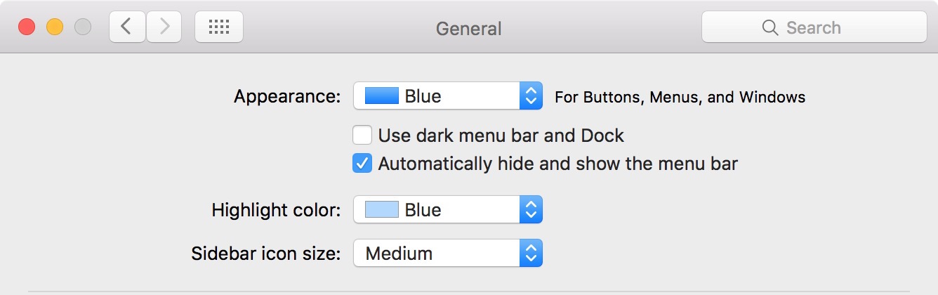 Hide menu bar Mac
