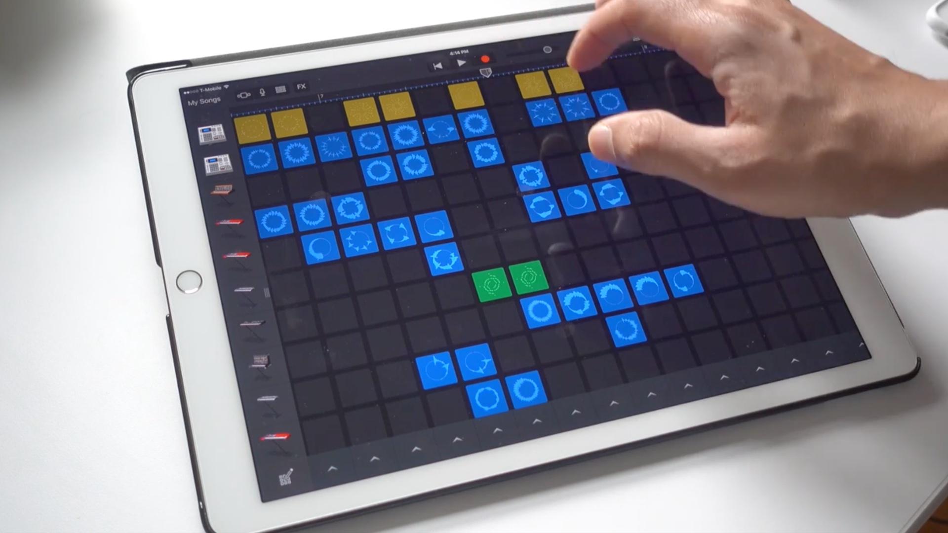 iPad Pro GarageBand