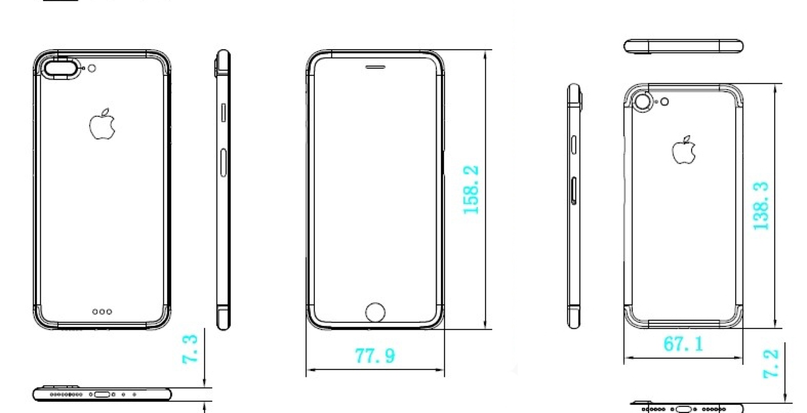 New iPhone 7 schematics suggest similar dimensions, unlikely