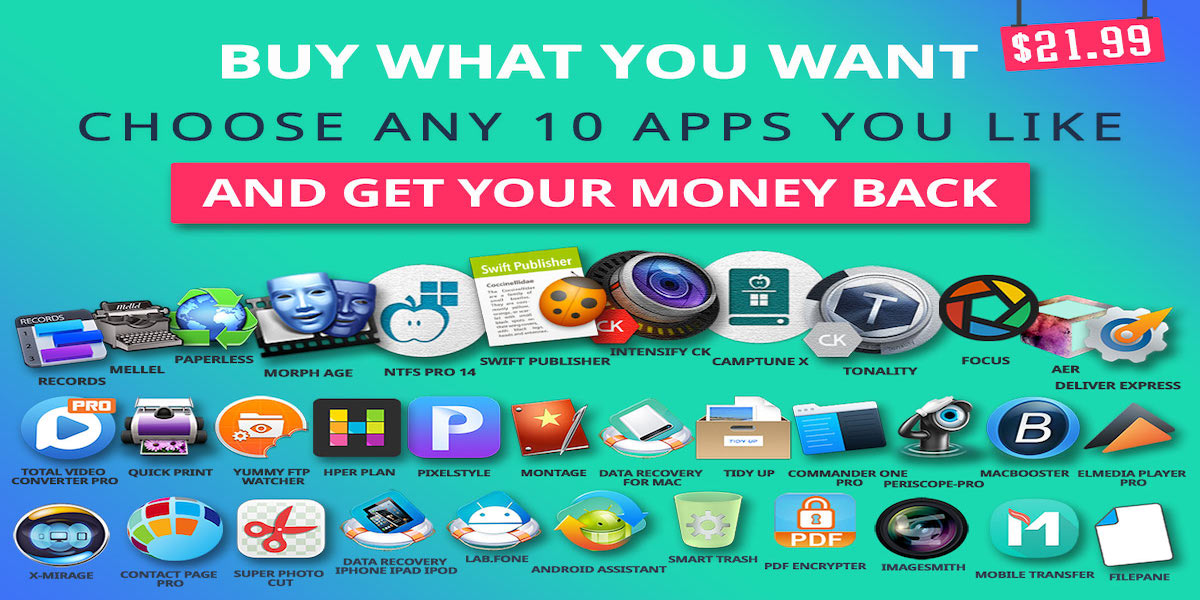 Mac Software Bundle: Pick any 10 of 50 solid apps +$22 credit for $22
