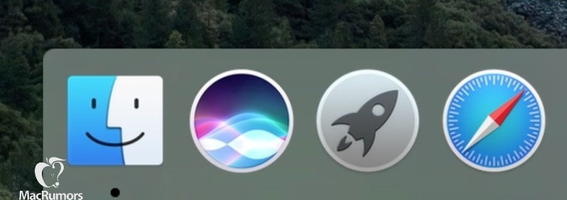 Siri OS X 10.12 Dock icon