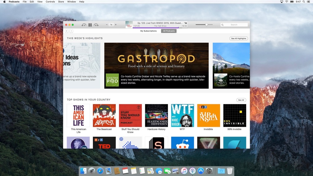 Podcasts OS X concept