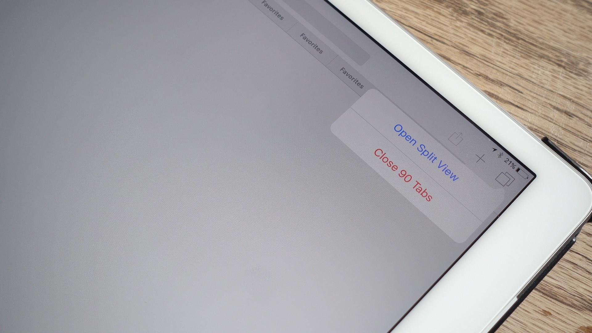 Close All Tabs iOS 10