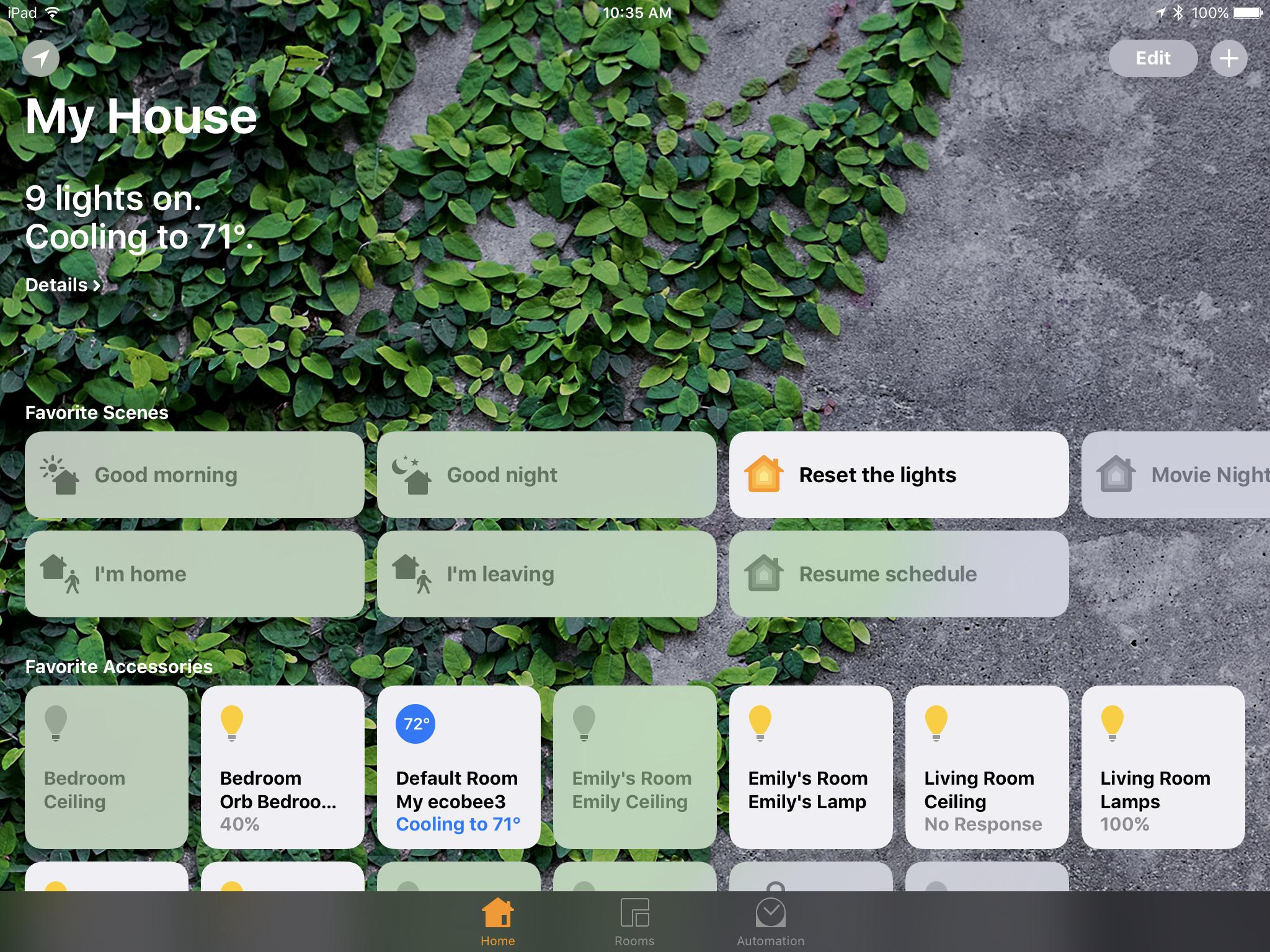 iOS 10 Home HomeKit app