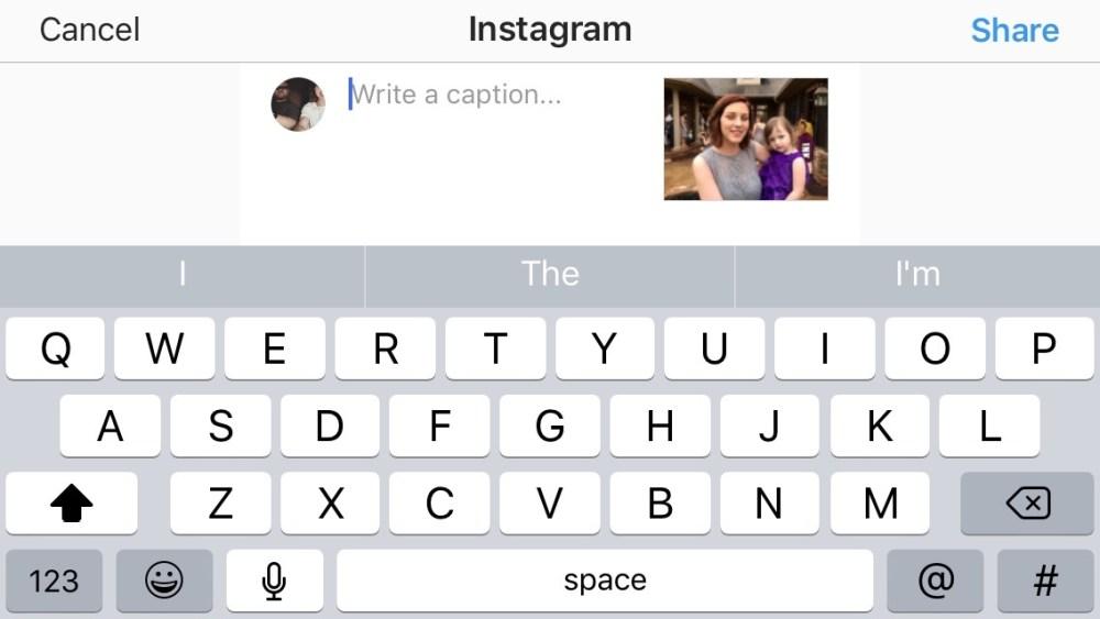 Instagram share extension