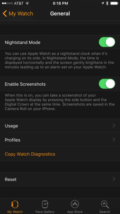 watchOS 3 Beta 1 - Enable Screenshots