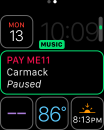 watchOS 3 Music Complication