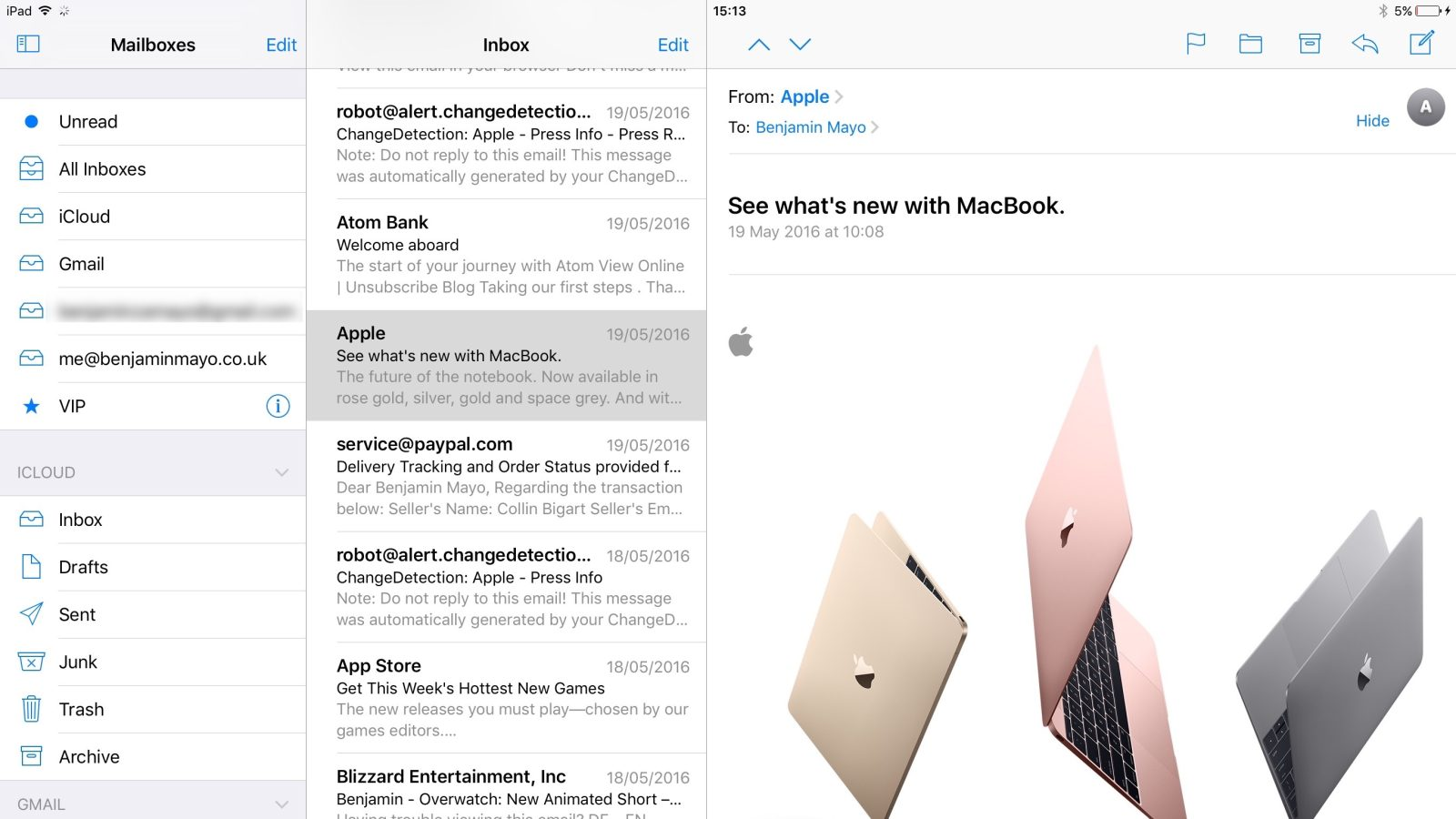 iOS 10 adds three-pane split-view appearance for Mail and Notes on  12.9-inch iPad Pro - 9to5Mac