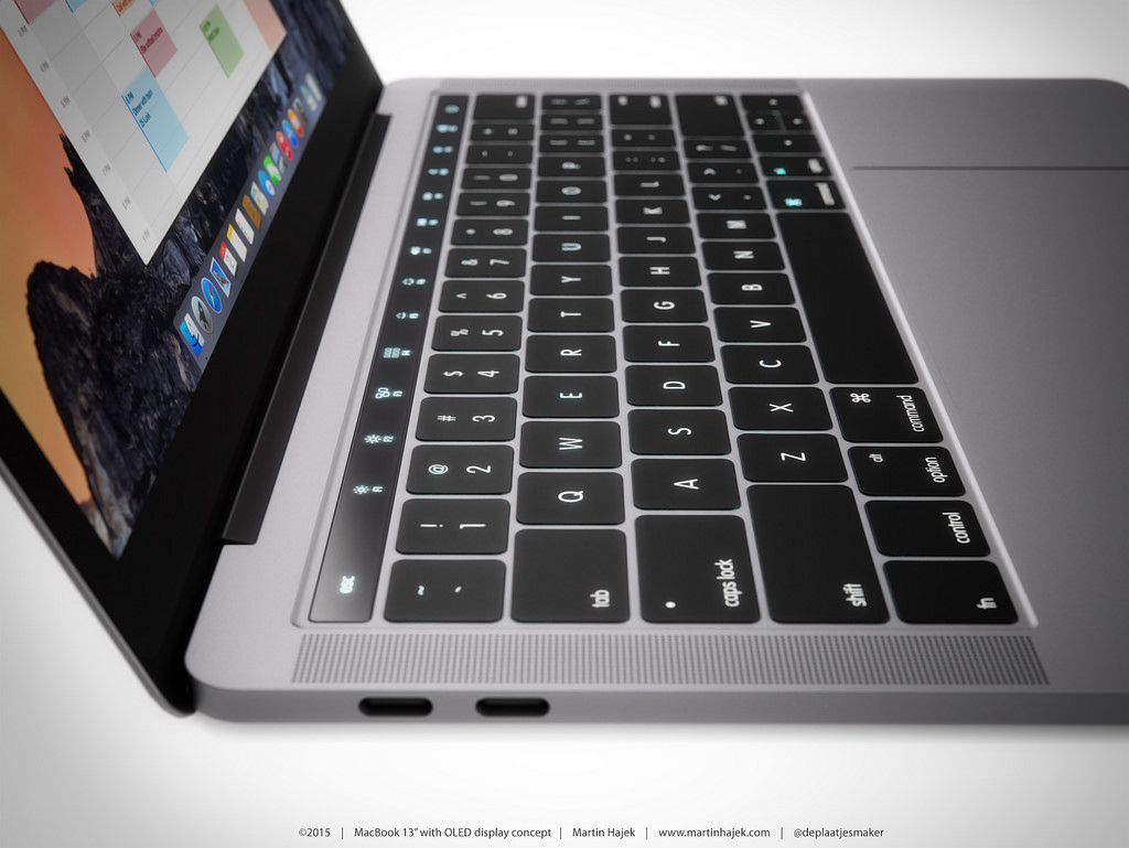 MAcbook-oled side
