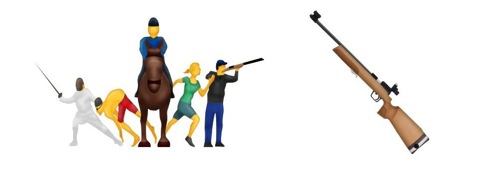 Rifle emoji pulled