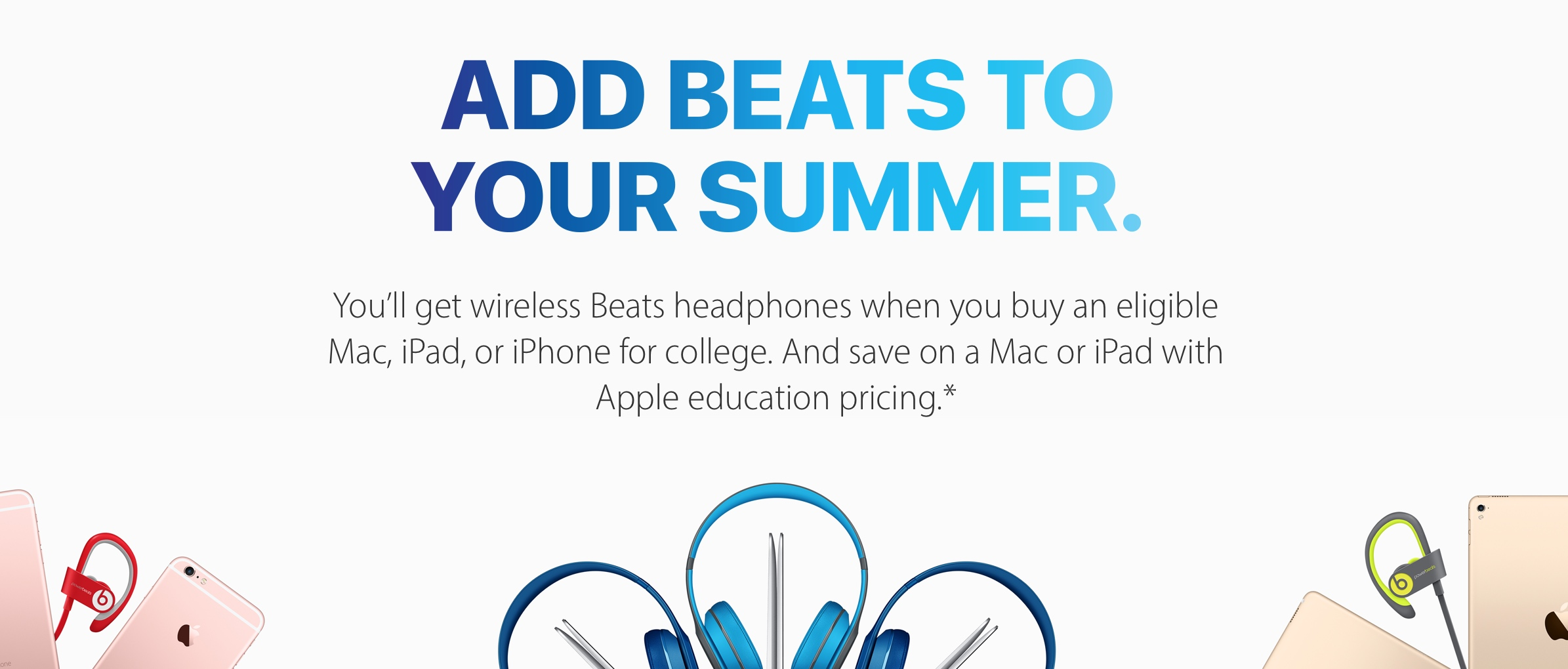 Apple launches 2016 Back to School deal: free Beats headphones with
