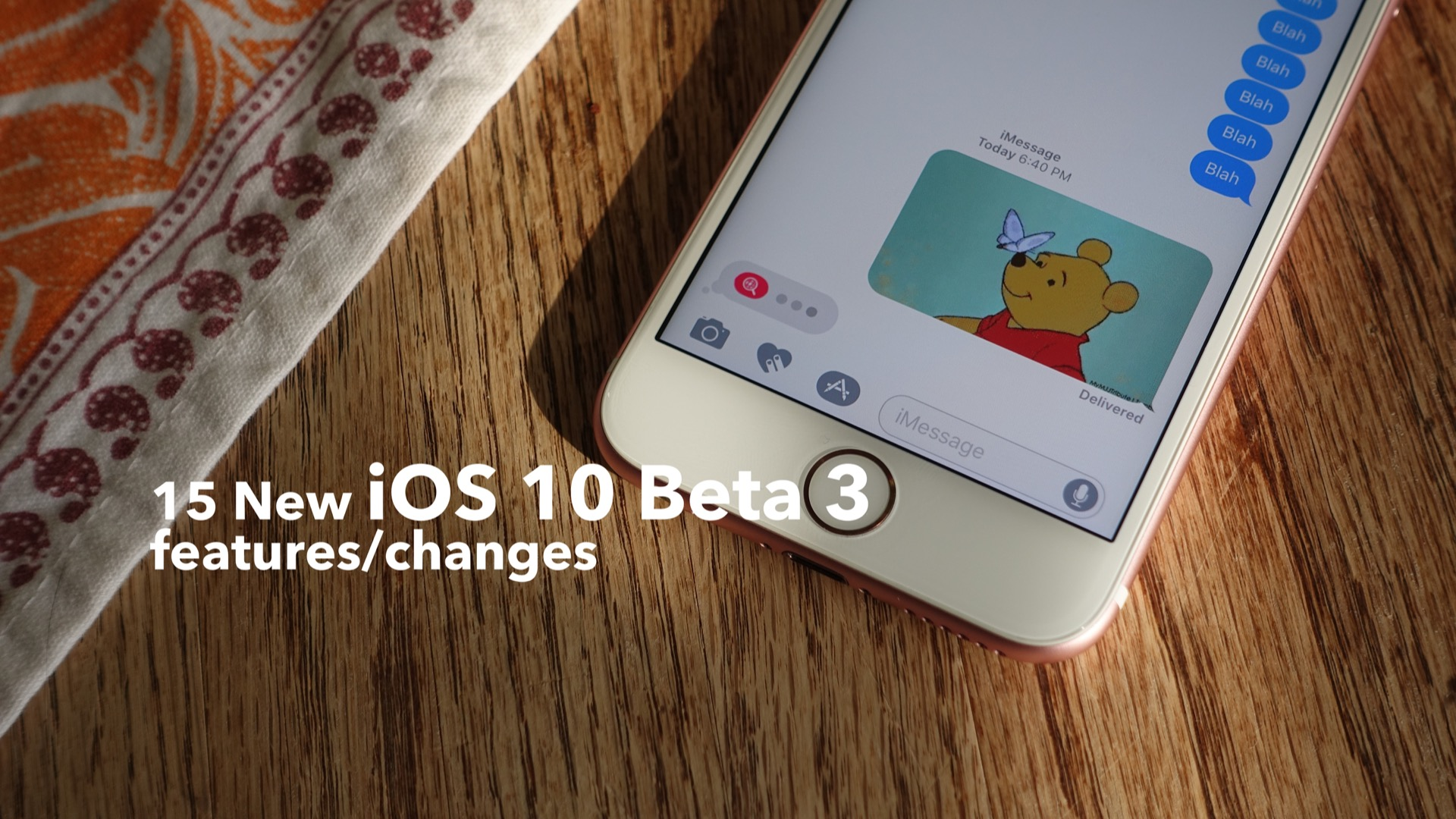15 new iOS 10 beta 3 features changes