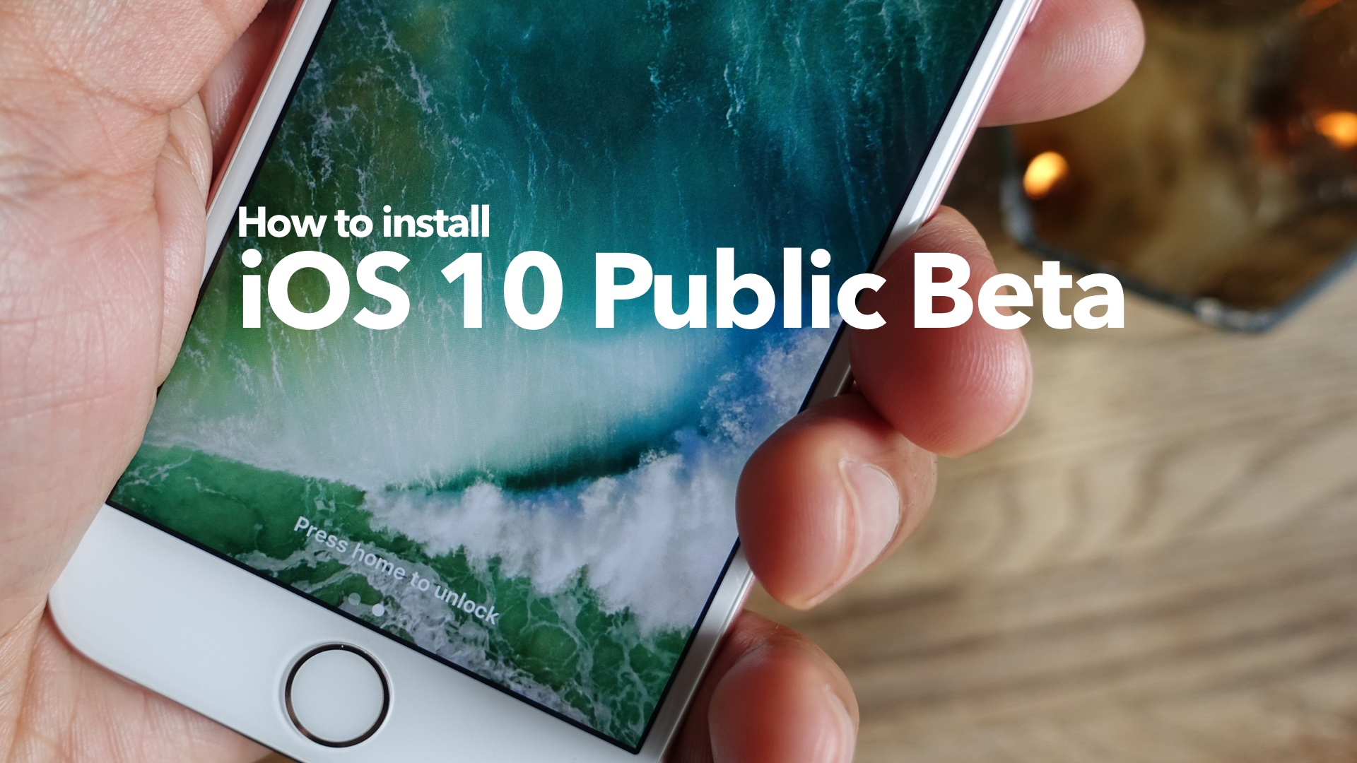How to install public beta