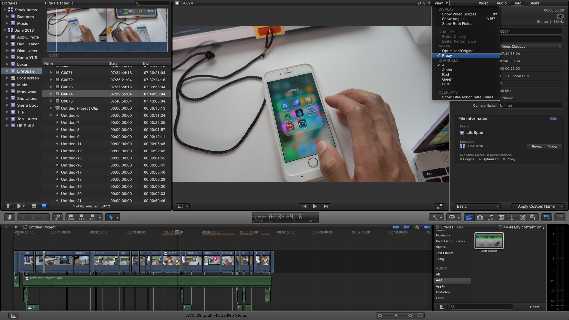How-To: Use Final Cut Pro X's proxy media feature to edit 4K