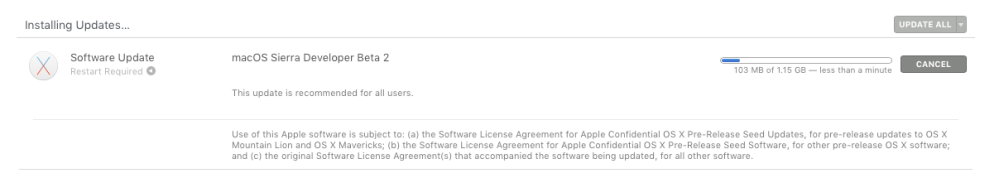 macOS Sierra 10.12 beta 2