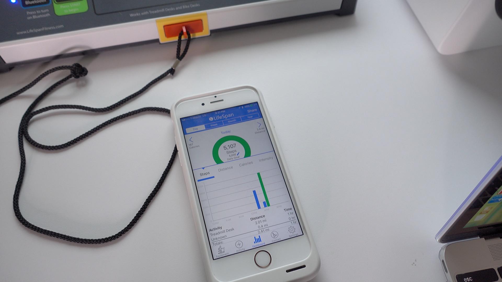 UnderDesk Treadmill LifeSpan app