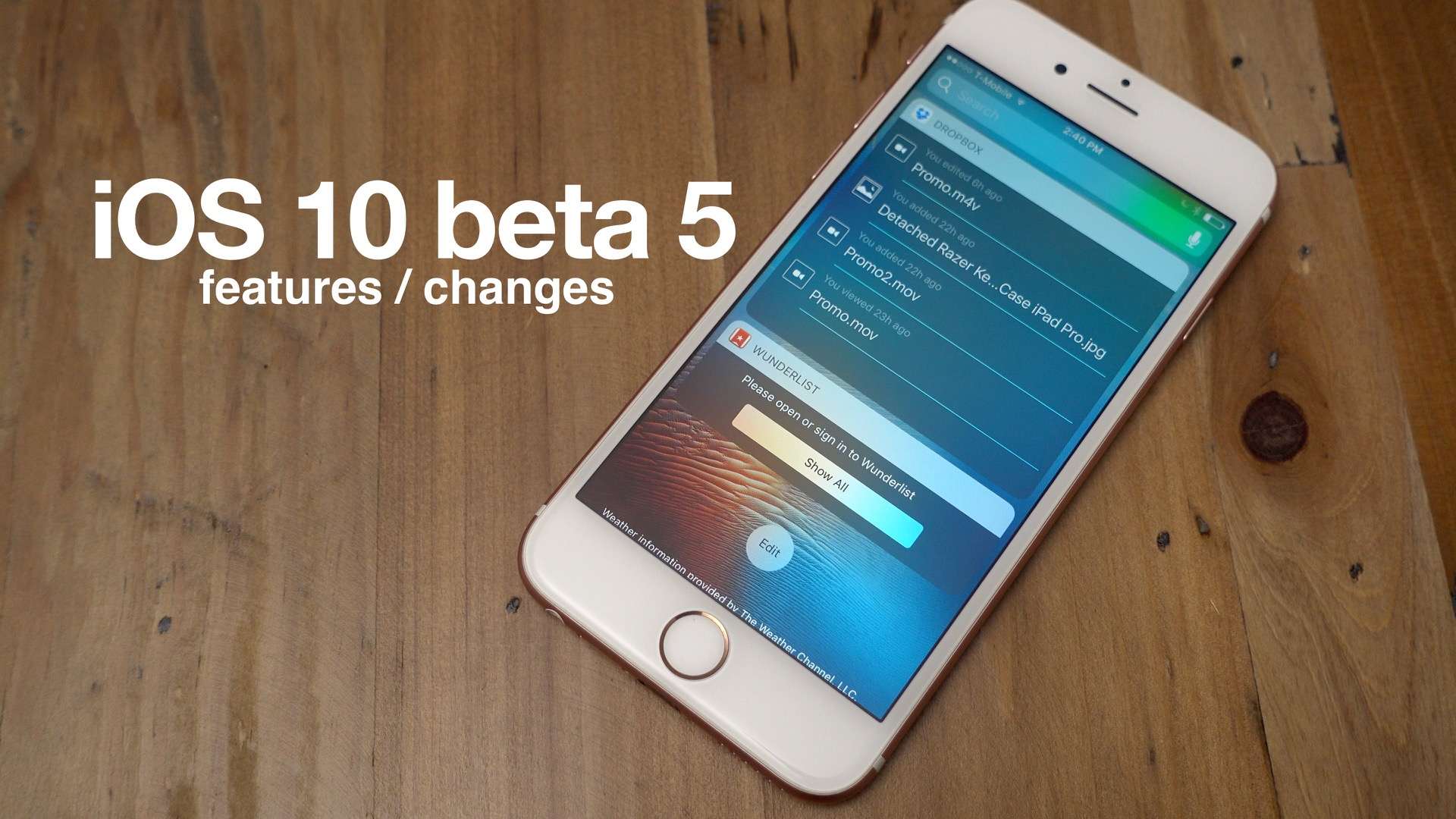 beta 5 iOS 10 features changes