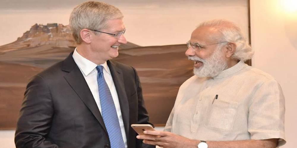 The Apple CEO, Mr. Tim Cook calls on the Prime Minister, Shri Narendra Modi, in New Delhi on May 21, 2016.