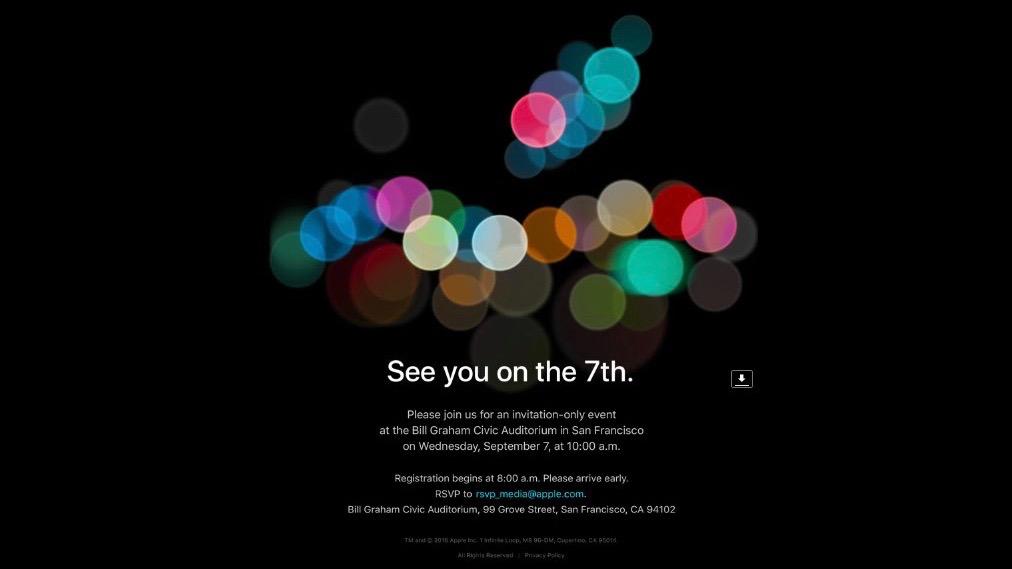 Apple iPhone 7 event