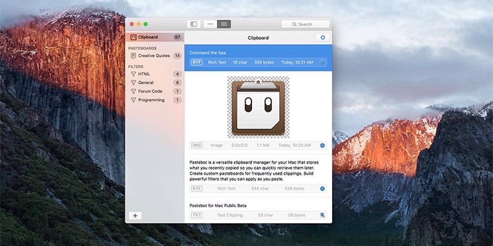 Pastebot for Mac