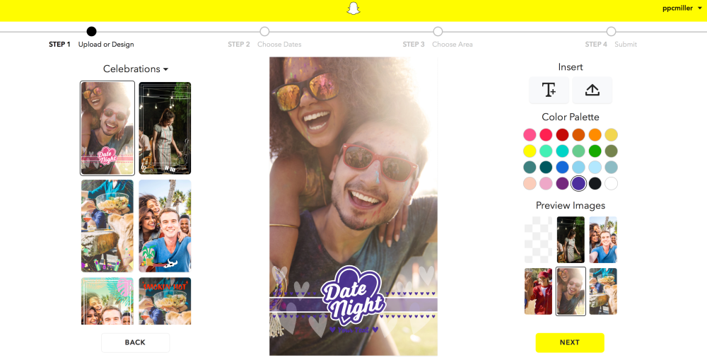snapchat create geofilters