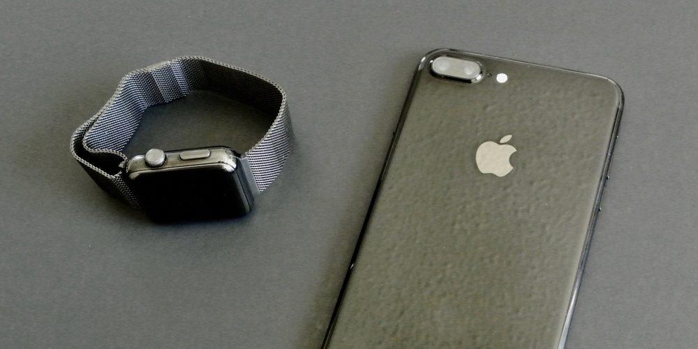 Apple Watch Series 2 iPhone 7 Plus space black jet black