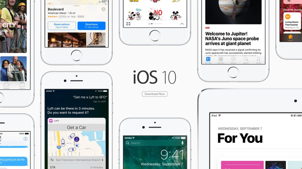 Apple releases iOS 10 for iPhone, iPad and iPod touch to the