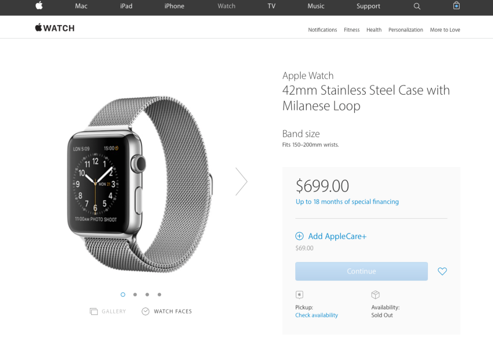 Apple Watch Sold Out