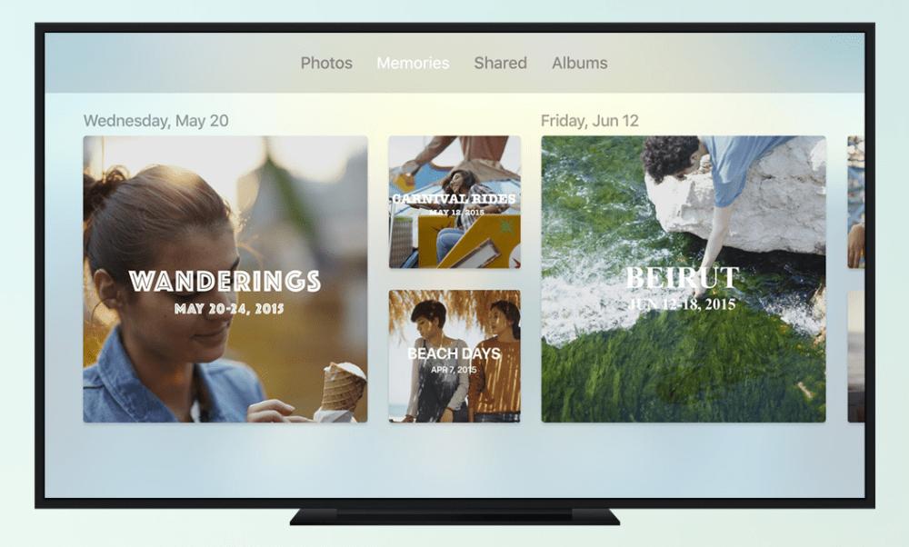 Apple TV tvOS 10 Photos Memories