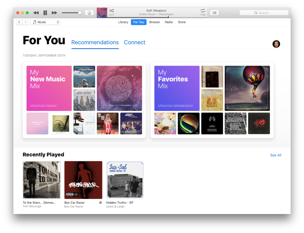 iTunes 12.5